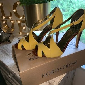 Paolo Yellow/gold High heel